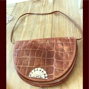 Burdines vintage made in Italy leather bag